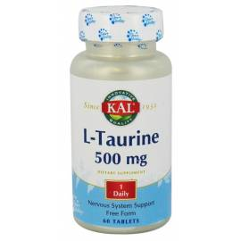 L-TAURINA 500MG  60 CÁPSULAS SOLARAY