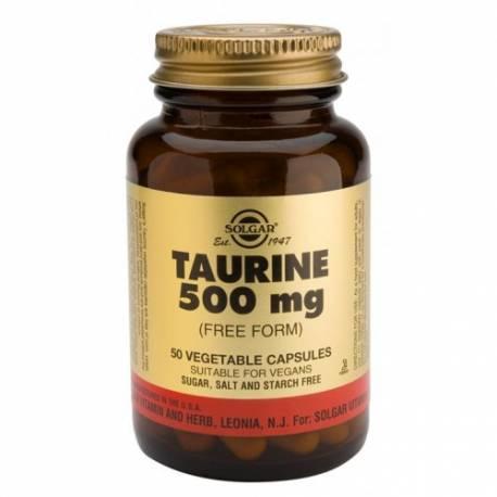 TAURINA 500 MG 50 CAPSULAS SOLGAR