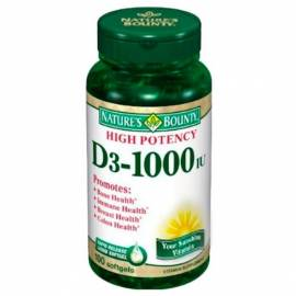 VITAMINA D3 1000IU  100 PERLAS NATURE´S BOUNTY