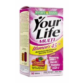 YOUR LIFE MULTI WOMEN'S 45+  90 COMPRIMIDOS NATURE'S BOUNTY
