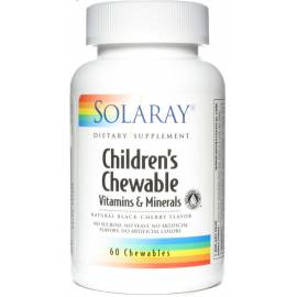 CHILDREN'S CHEWABEL-VITAMINAS INFANTILES 60 COMPRIMIDOS MASTICABLES SOLARAY