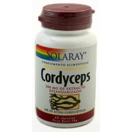 CORDYCEPS 500MG 60 CÁPSULAS SOLARAY FORMULA DEFENSAS VIGOR SEXUAL