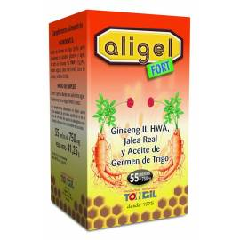 ALIGEL FORT 55 PERLAS 750 MG TONGIL GINSENG CON JALEA REAL