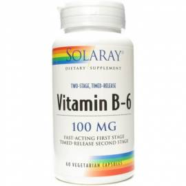 VITAMINA B6 100MG 60 CÁPSULAS SOLARAY VITAMINAS