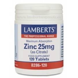 CITRATO DE ZINC 25 MG 120 COMPRIMIDOS LAMBERTS