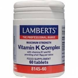 VITAMINA K COMPLEX - VITAMINA K 75 ug 60 COMPRMIDOS LAMBERTS