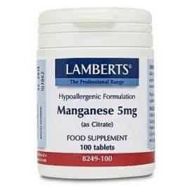 MANGANESO 5 MG 100 COMPRIMIDOS LAMBERTS