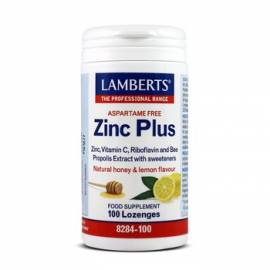 ZINC PLUS SIN ASPARTAMO 2MG 100COMPRIMIDOS LAMBERTS FORMULA DEFENSAS CATARROS GRIPES