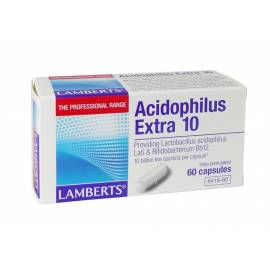 PROBIOTICOS ACIDOPHILUS EXTRA 10 - 60 CÁPSULAS LAMBERTS