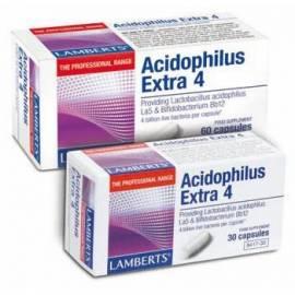 PROBIOTICOS ACIDOPHILUS EXTRA 4 -  30 CÁPSULAS LAMBERTS