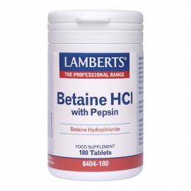 BETAINE HCL - BETAINA CON PEPSINA  324 MG 180 COMPRIMIDOS LAMBERTS