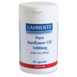 ACEITE DE BORRAJA PURO - PURE STARFLOWER OIL - 1000 MG - 90 CAPSULAS LAMBERTS