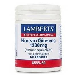 KOREAN GINSENG - GINSENG KOREANO 1200 MG 60 COMPRIMIDOS LAMBERTS