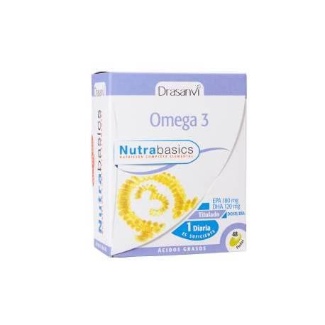 OMEGA 3 - NUTRABASICS - 48 PERLAS - 1400 MG - DRASANVI