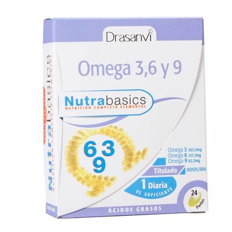 OMEGA 3, 6 Y 9 - NUTRABASICS - 24 PERLAS - DRASANVI