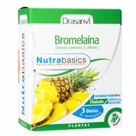 BROMELAINA - NUTRABASICS - DRASANVI - 48 CAPSULAS