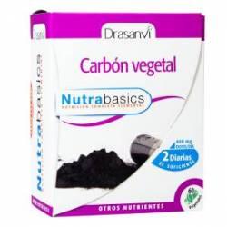 CARBON VEGETAL 60 CAPSULAS NUTRABASICS DRASANVI
