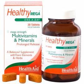 MULTIVITAMÍNICO HEALTHY MEGA 30 CÁPSULAS HEALTH AID