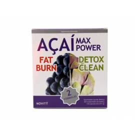 ACAI MAX POWER DUO   FAT BURNER DETOX CLEAN   60 COMPRIMIDOS 60 CÁPSULAS DIETMED