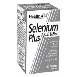 SUPER SELENIUM-SELENIO PLUS A, C ,E Y ZINC 60 COMPRIMIDOS  HEALTH AID