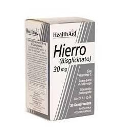 HIERRO BISGLICINATO 30 MG 30 COMPRIMIDOS HEALTH AID