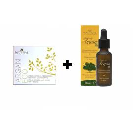 PACK CREMA DE ARGÁN ECO 50 ML + ACEITE DE ARGAN 30 ML NATYSAL