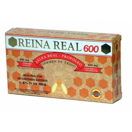 REINA REAL 600 JALEA REAL - 20 AMPOLLAS ROBIS