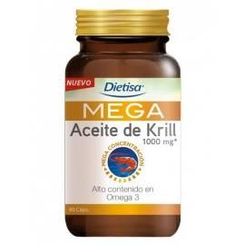 MEGA ACEITE DE KRILL 1000MG 60 PERLAS DIETISA FORMULA OMEGA 3 COLESTEROL