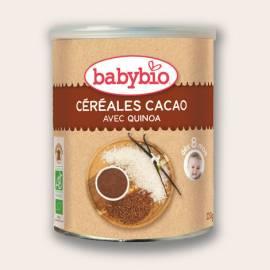 CEREALES CON CACAO Y QUINOA BABYBIO 220GR PAPILLA