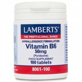 VITAMINA B6 PIRIDOXINA 50MG 100 COMPRIMIDOS LAMBERTS FORMULA ANEMIA