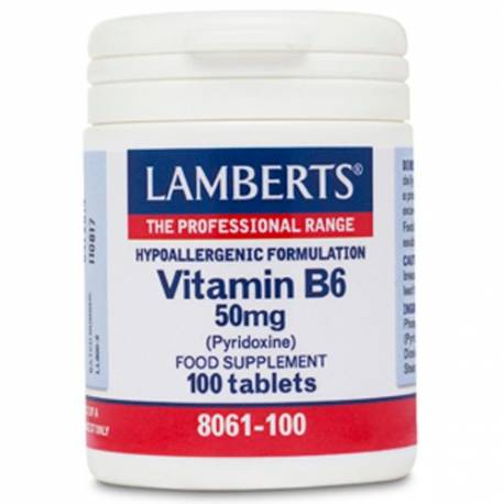 VITAMINA B6 50MG  100 COMPRIMIDOS LAMBERTS