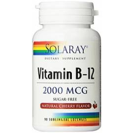 VITAMINA B12 2000 MCG 90 COMPRIMIDOS SUBLINGUALES SOLARAY
