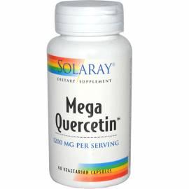 QUERCETINA MEGA QUERCETIN 600MG 60 CAPSULAS SOLARAY FORMULA ALERGIAS ARTICULACIONES