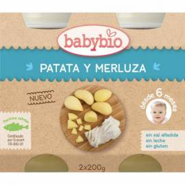POTITO PATATA Y MERLUZA 2x200GR BABYBIO