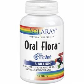 ORAL FLORA 30 CHICLES SOLARAY FLORA PROBIOTICOS PREBIOTICOS HALITOSIS