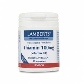 TIAMINA VITAMINA B1 100MG 90 CÁPSULAS LAMBERTS FORMULA VITAMINAS