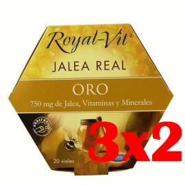 JALEA REAL ROYAL VIT ORO 750 MG DE JALEA, MINERALES Y VITAMINAS 20 VIALES ABRE FÁCIL DIETISA