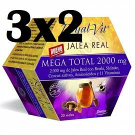 JALEA REAL ROYAL VIT MEGA TOTAL 2000 20VIALES DIETISA