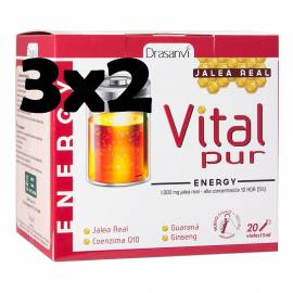 JALEA REAL ENERGIA VITAL PUR ENERGY 20 VIALES DRASANVI GUARANA GINSENG