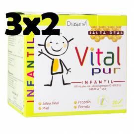 JALEA REAL INFANTIL VITAL PUR JUNIOR  20 VIALES DRASANVI