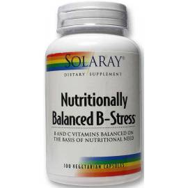 NUTRITIONALLY BALANCED B-STRESS 100CAPSULAS SOLARAY VITAMINA B