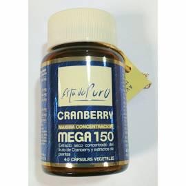 CRANBERRY MEGA 150 PACS ESTADO PURO 40 CAPSULAS VEGETALES