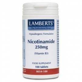 NICOTINAMIDE-NICOTINAMIDA-VITAMINA B3 250 MG 100 COMPRIMIDOS LAMBERTS