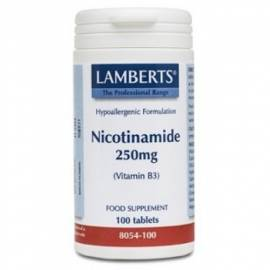 NICOTINAMIDA VITAMINA B3 250 MG 100 COMPRIMIDOS LAMBERTS