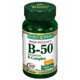 B50  B-COMPLEX  50 COMPRIMIDOS  NATURES BOUNTY