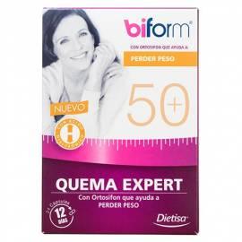 BIFORM 50+ QUEMA EXPERT 24 CÁPSULAS DIETISA FORMULA QUEMAGRASAS