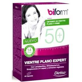 BIFORM VIENTRE PLANO EXPERT 50+ 48 CÁPSULAS DIETISA FORMULA VIENTRE BARRIGA